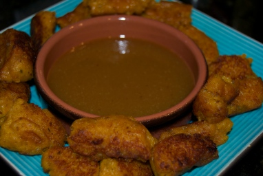the finished product. We used honey mustard for dipping sauce